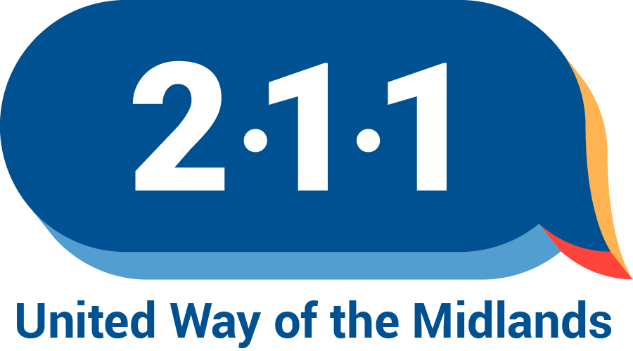 211 logo with United Way of the Midlands