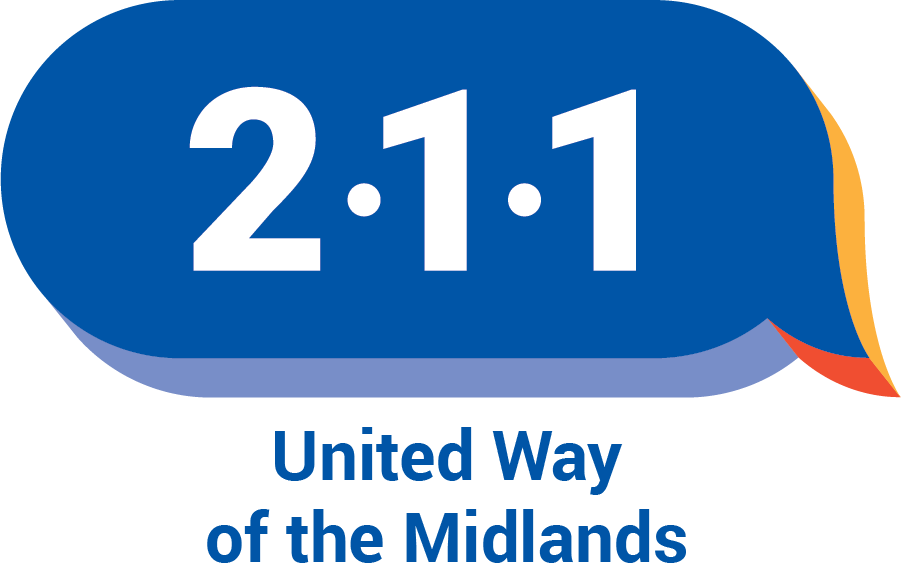 211 logo with United Way of the Midlands on two lines